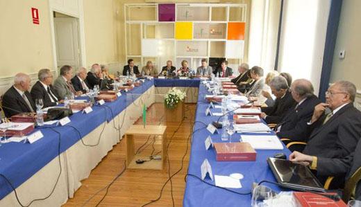 Reunión en Burgos de los directores y presidentes de las academias de la lengua