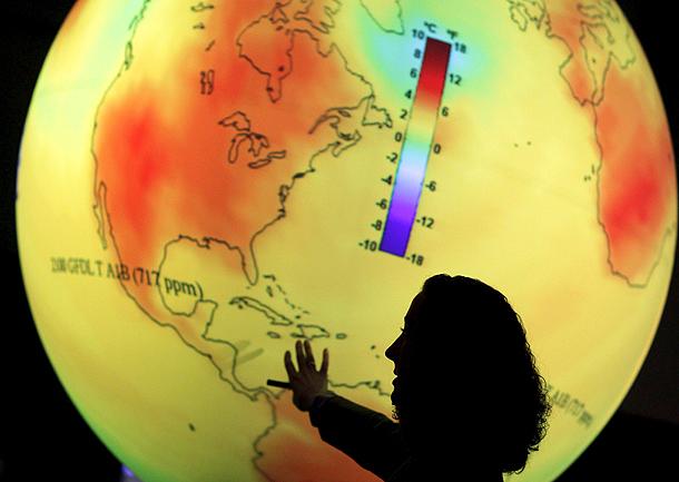 Efectos del cambio climático (Copenhague, Dinamarca, 15/12/2009).