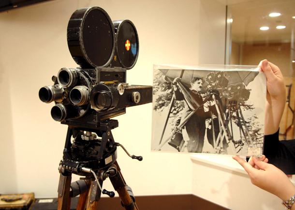 Subasta de una de las cámaras de Charlie Chaplin en Londres (Reino Unido, 2007)