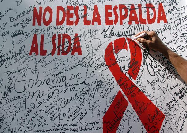 Mural de compromiso en la lucha contra la enfermedad en Santo Domingo (República Dominicana, 2005)