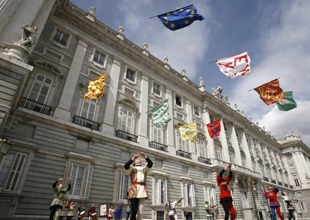 Los abanderados de Siena en el Palacio Real de Madrid (España) en el 2007