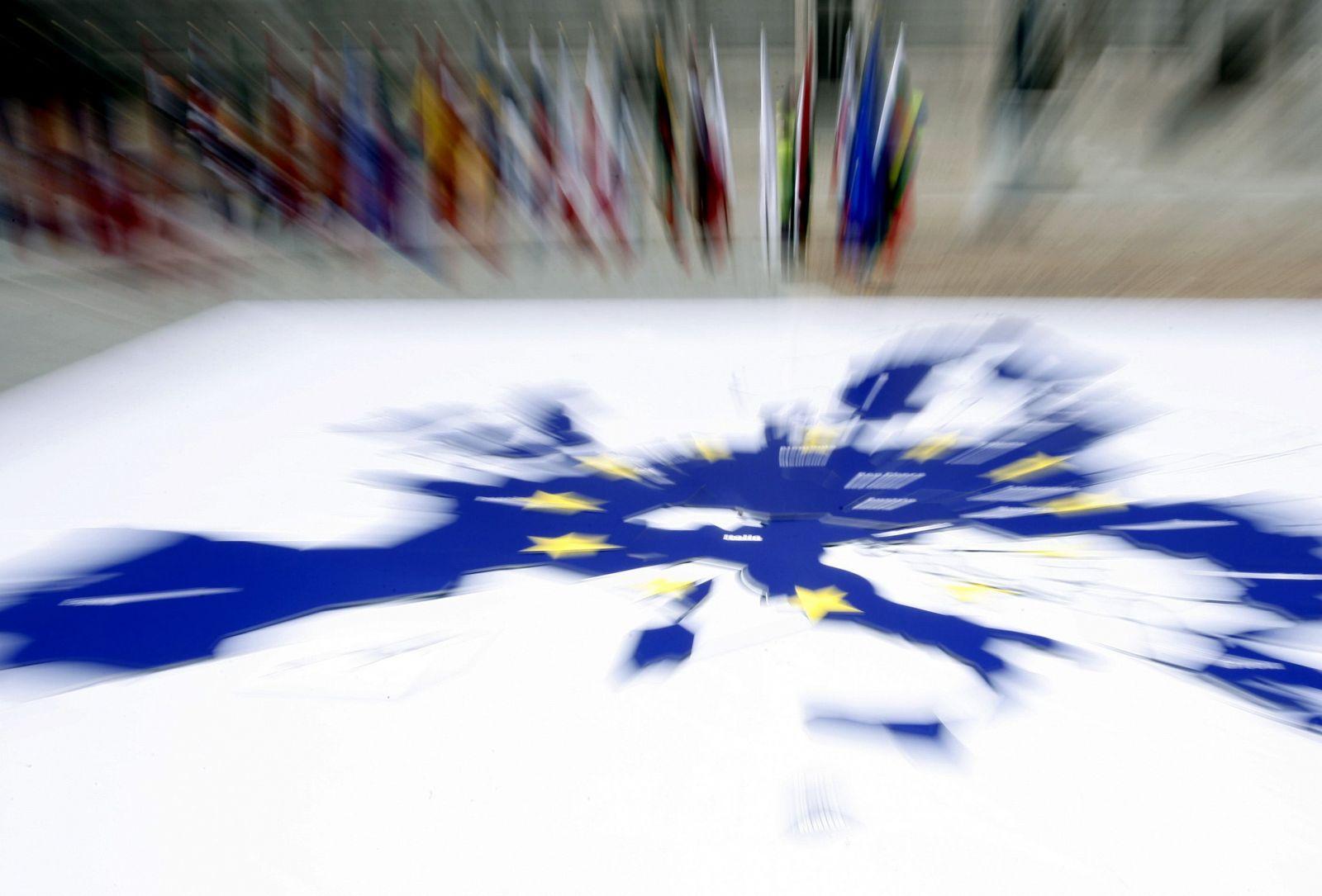 Vista parcial del puzle gigante de la Unión Europea (Madrid, España 2007)