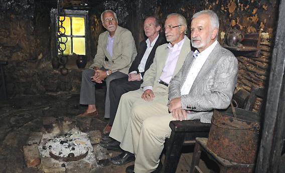 José Manuel Blecua (2ºiz.), Luis Mateo Diez (iz.), Salvador Gutierrez (dr.) y José María Merino. Foto: ©Archivo Efe/J.Casares