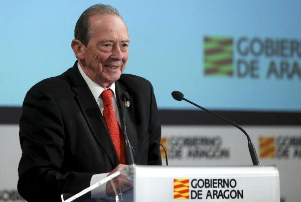 José Manuel Blecua imparte la conferencia «Diccionario y literatura». Foto: EFE/Javier Cebollada