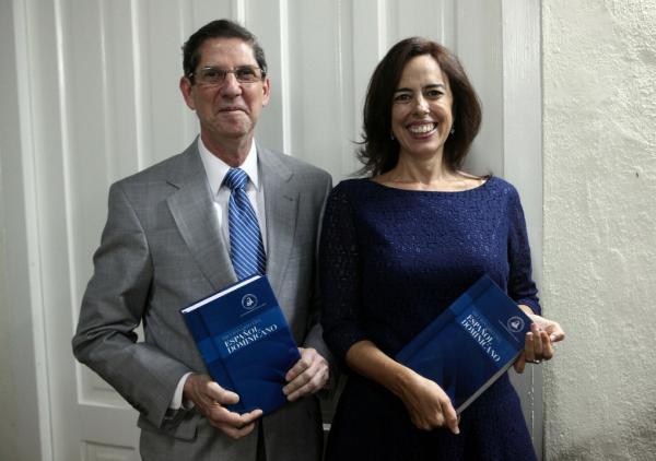 Fabio Guzmán Ariza y María José Rincón. Foto: Efe/Orlando Barría