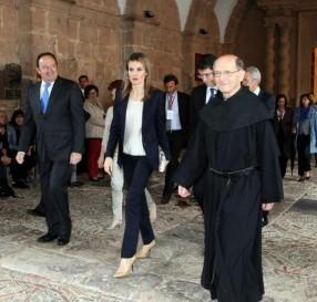 Doña Letizia tras inaugurar el Seminario
