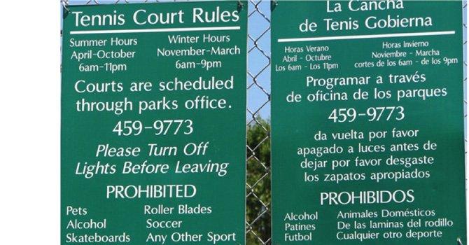 «Traducción» al español en una cancha de tenis en Estados Unidos   ETLL