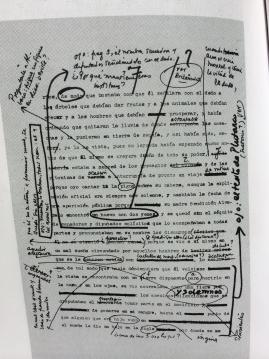 Manuscrito de 'El otoño del patriarca'.  Foto: lainformacion.com