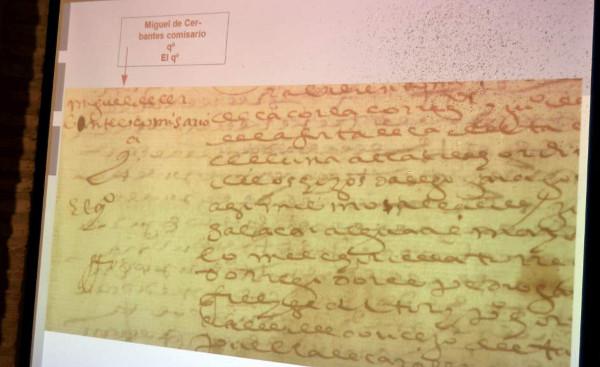 Documentos inéditos de Miguel de Cervantes. Foto: Archivo Efe