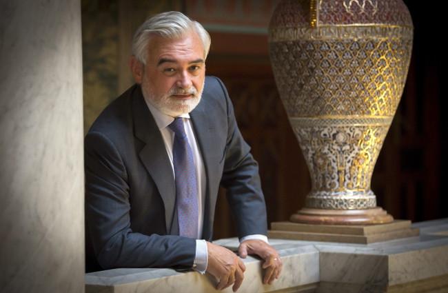 Dario Villanueva, en la sede de la Real Academia Española. Foto: ©Archvio Efe/Fernando Villar