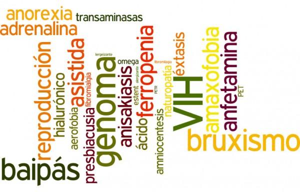 Algunas de las nuevas entradas, acepciones y revisiones de palabras relacionadas con la salud incluidas en la 23 edición del Diccionario de la Real Academia Española. ©Agencia EFe