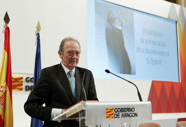 José Manuel Blecua, durante la conferencia. ©Agencia Efe/Javier Belver