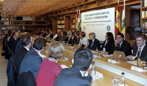 La reina Letizia preside  la inauguración del X Seminario Internacional de Lengua y Periodismo. Foto: © Efe/Abel Alonso