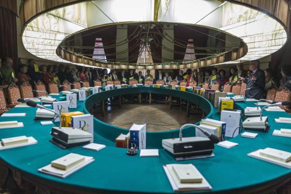 Salón de plenos de la Real  Academia Española. Foto: ©Archivo Efe/Emilio Naranjo
