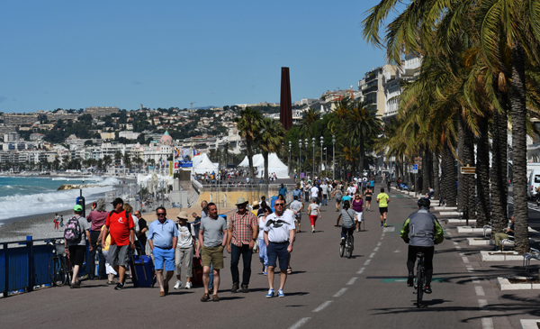 Promenade Des Anglais - Atmosphere in Nice, France on June 23, 2016 during UEFA EURO 2016. A lorry has ploughed through a crowd during Bastille Day celebrations in the southern French city of Nice on July 14, 2016. At least 84 people are dead, including many children, the interior ministry says. A further 18 people are in a critical condition in hospital. Photo by Pascal Rondeau/ABACAPRESS.COM File photo :