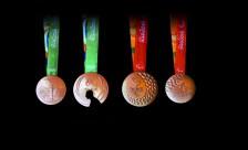 BRASIL OLIMPISMO:BRA06. RÍO DE JANEIRO (BRASIL), 14/06/2016.- Vista de hoy, martes 14 de junio de 2016, de un evento donde fueron presentadas las medallas olímpicas de Río 2016, en el Parque Olímpico de Río de Janeiro. EFE/Antonio Lacerda