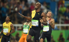 Usain Bolt of Jamaica wins the Men's 100m Final on Day 9 of the Rio 2016 Olympic Games at the Olympic Stadium on August 14, 2016 in Rio de Janeiro, Brazil. Photo by Lionel Hahn/ABACAPRESS.COM