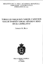 Separata del Boletín de la real Academia Española