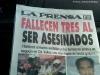 Federico Romero nos envió la fotografía de este titular