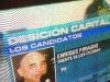 Judith Jamschon hizo esta fotografía de uno de los informativos de la televisión argentina