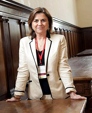 Lucía Méndez, durante el seminario. Foto: © Agencia Efe/Abel Alonso
