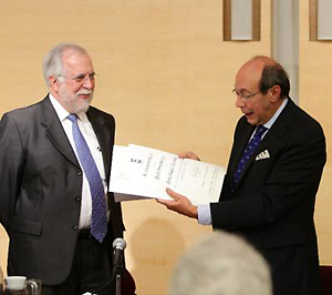 Francisco Rico, junto a  Javier Garciadiego (iz).  Foto: ©Efe/José Méndez