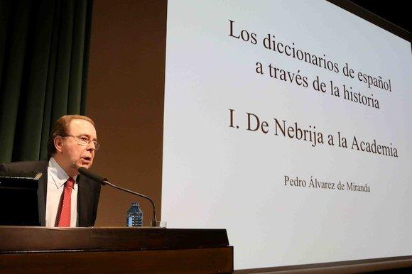 Pedro Álvarez de Miranda es el académico director del DRAE. Foto: Fundación March.