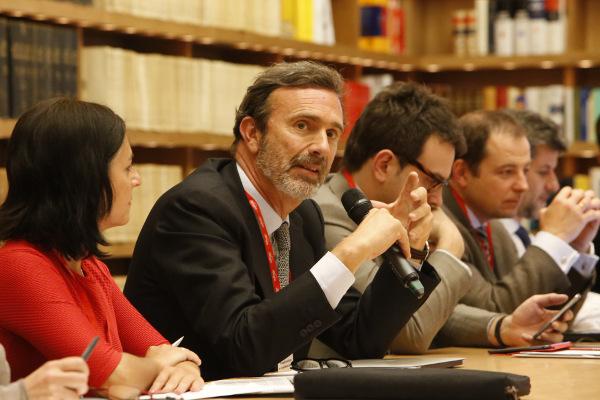 Joaquín Muller, durante el  IX Seminario Internacional de Lengua y Periodismo. Foto: ©Judith González