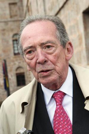 El director de la Real Academia Española (RAE), José Manuel Blecua, durante la entrevista. Foto: © Efe/Abel Alonso