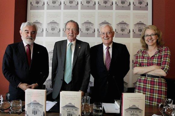 Darío Villanueva, José Manuel Blecua, Victor García de la Concha y Ana Rosa Semprún (de iz. a dr.). Foto: ©RAE