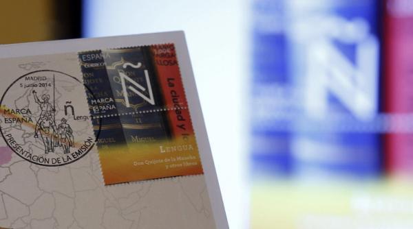 Sexto sello de la serie filatélica Marca España que corresponde a la letra Ñ. Foto:© EFE/ FERNANDO ALVARADO