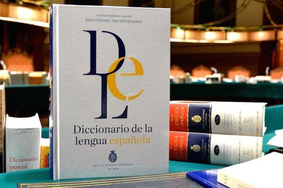 Así será la 23.ª edición del diccionario académico (maqueta).