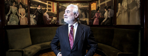 El director de la RAE, Darío Villanueva, en el Cercle del Liceu. ©Xavier Cervera