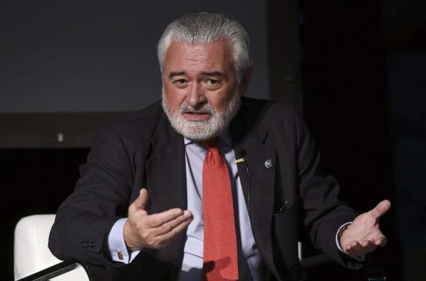 Darío Villanueva, durante su participación en el I Foro Internacional del Español 2015 (FiE2.0). © Efe/Chema Moya