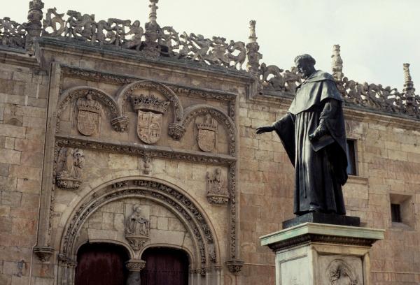 Fachada de las Escuelas Menores de la Universidad de Salamanca. ©Agencia Efe/lr