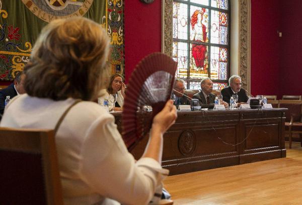 Sesión inaugural del X Congreso Internacional de la Lengua Española, que se celebra en Zaragoza. ©Efe/Javier Cebollada