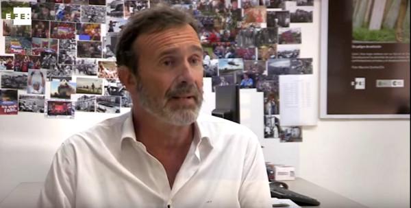 Joaquín Müller-Thyssen, durante la entrevista con la Agencia Efe en Bogota