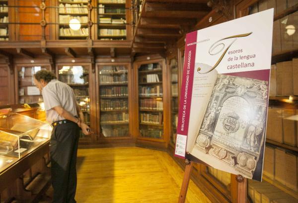 Exposición bibliográfica «Tesoros de la lengua castellana» en Zaragoza. Foto: ©Agencia Efe/Javier Cebollada