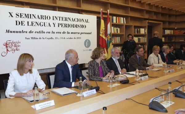Mesa inaugural  X Seminario Internacional de Lengua y Periodismo. Foto: ©Efe/Abel Alonso