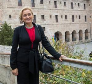 La investigadora de la Universidad de Málaga, Susana Guerrero, en  San Millán de la Cogolla. Foto: ©Efe/Abel Alonso