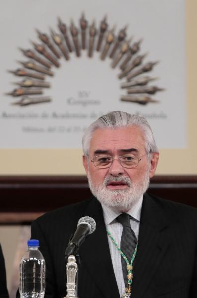 El director de la Real Academia Española (RAE), Darío Villanueva, durante la inauguración del XV Congreso de la Asociación de Academias de la Lengua Española (Asale). Foto: ©Efe/José Méndez