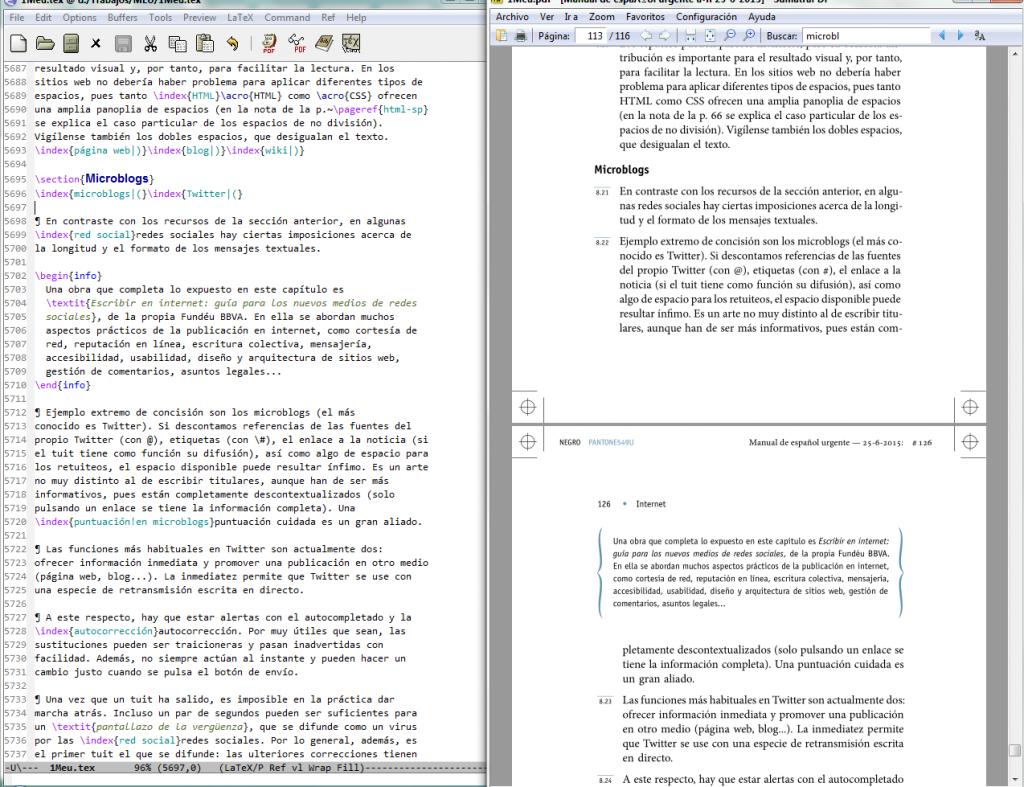 Trabajo con TeX con vista en PDF